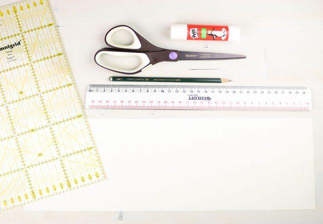 Benötigtes Material für die Origami/Plissee Vasen