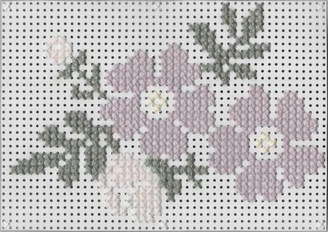 Stickvorlage Blumen Nummer 2