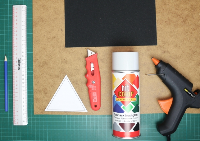 Material für die Bodenplatte des Teelichthalters
