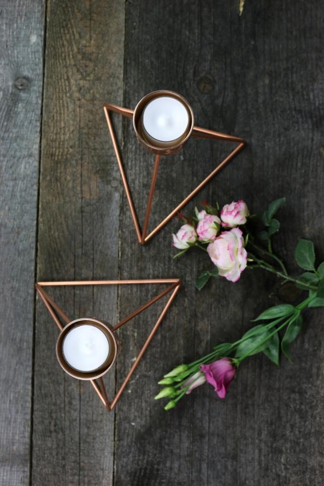 DIY Teelichthalter kupfer