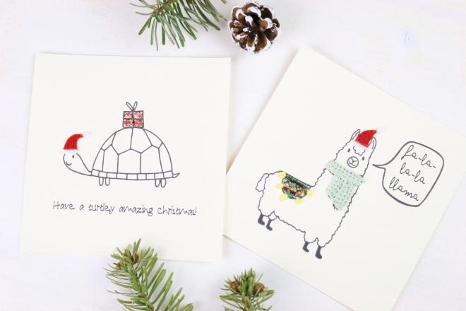 Weihnachtskarten Muster.Diy Last Minute Weihnachtskarten Eigenkreation