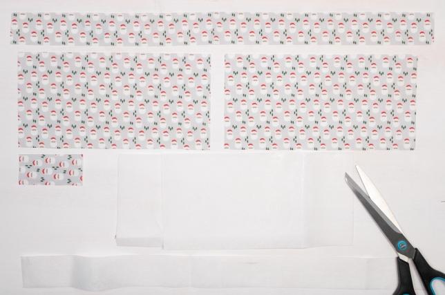 Layout des Schnittmusters für die Weihnachtsfliege.
