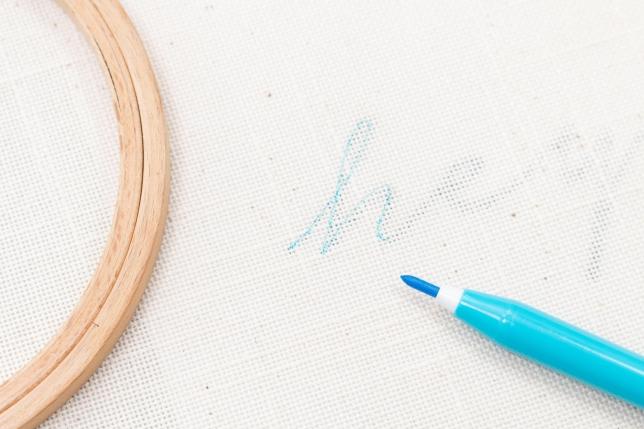 Stickbrginn: Motiv übertragen mit Markierstift
