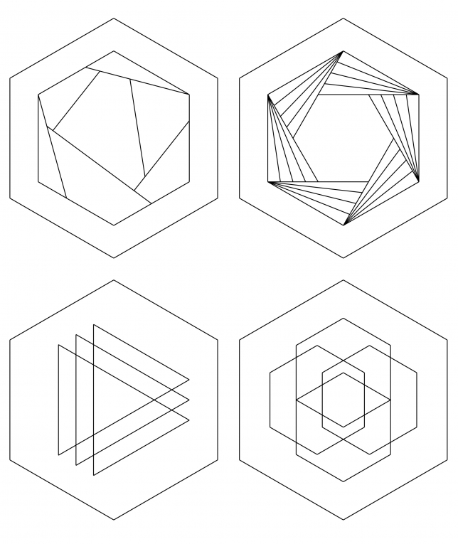 Vorlage mit geometrischem Muster Teil 1