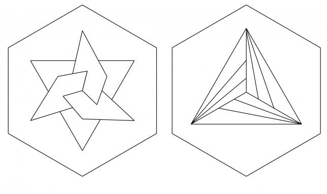 Vorlage mit geometrischem Muster Teil 2