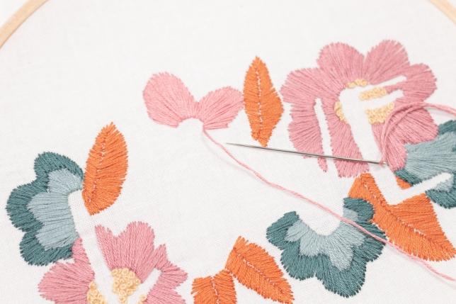 Stickbild Love mit knalligen Farben